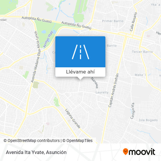 Mapa de Avenida Ita Yvate