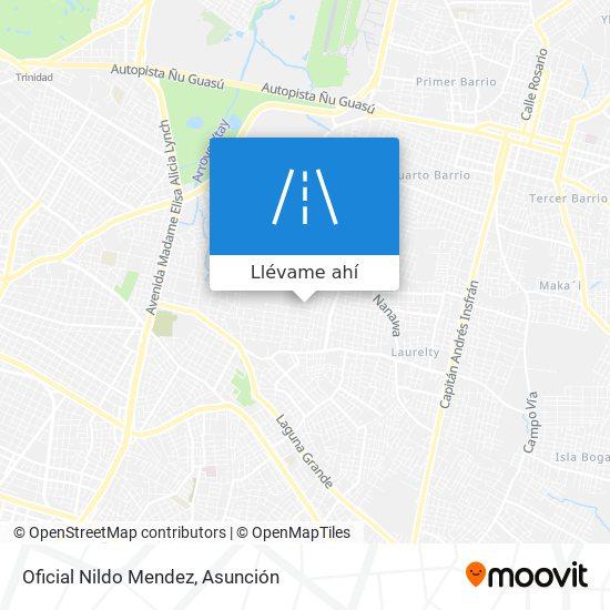 Mapa de Oficial Nildo Mendez