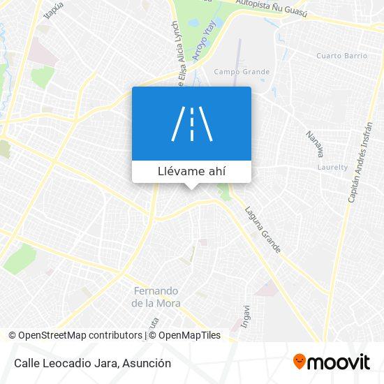 Mapa de Calle Leocadio Jara