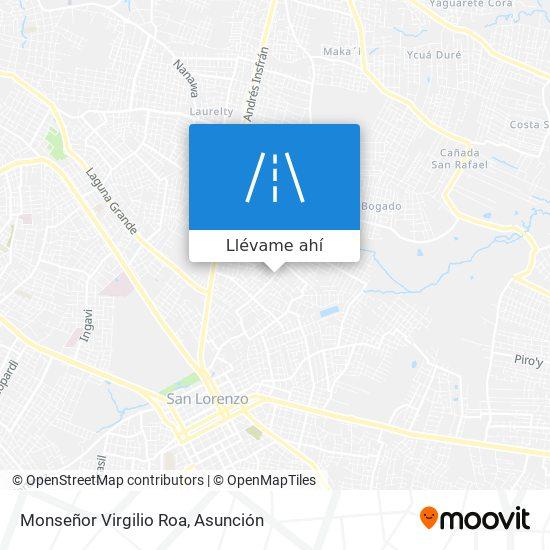 Mapa de Monseñor Virgilio Roa