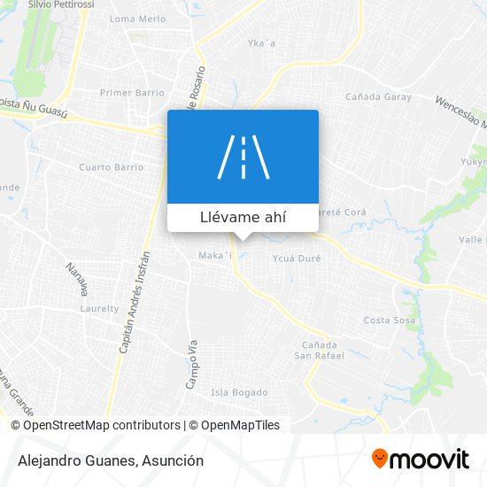 Mapa de Alejandro Guanes