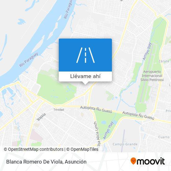 Mapa de Blanca Romero De Viola