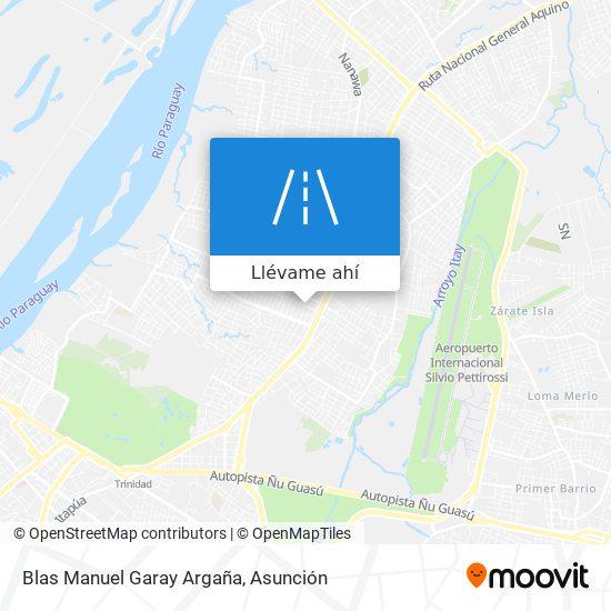 Mapa de Blas Manuel Garay Argaña