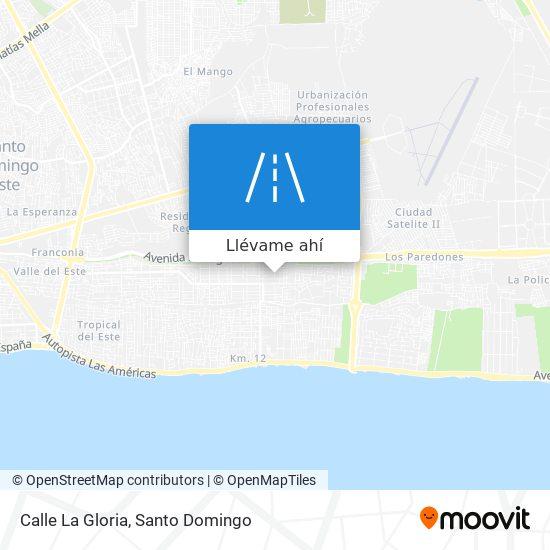 Mapa de Calle La Gloria