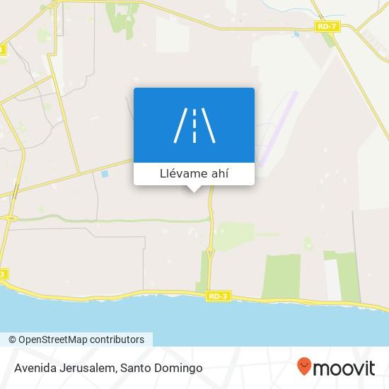 Mapa de Avenida Jerusalem