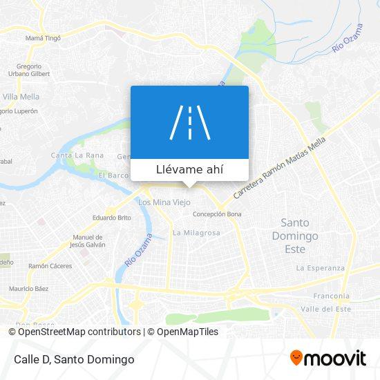 Mapa de Calle D