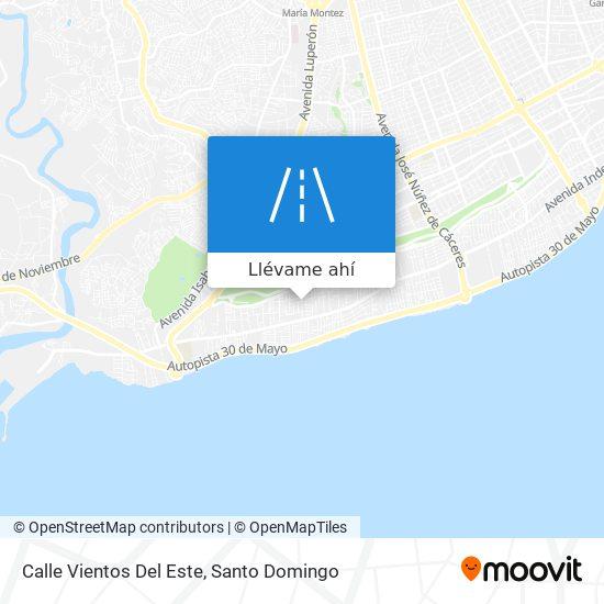 Mapa de Calle Vientos Del Este