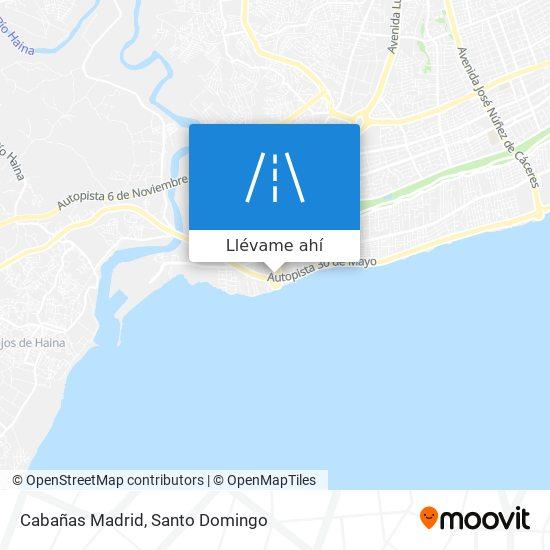 Mapa de Cabañas Madrid