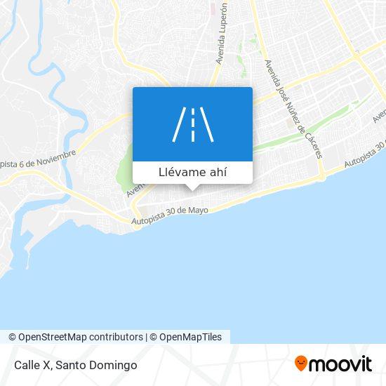Mapa de Calle X