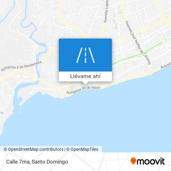 Mapa de Calle 7ma