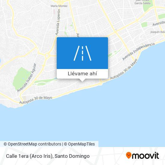 Mapa de Calle 1era (Arco Iris)