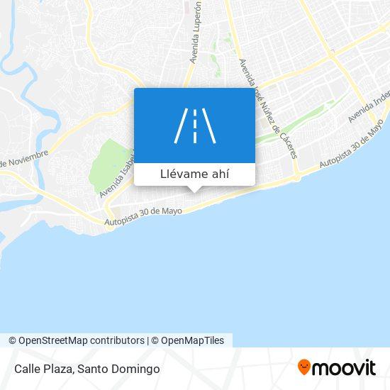 Mapa de Calle Plaza