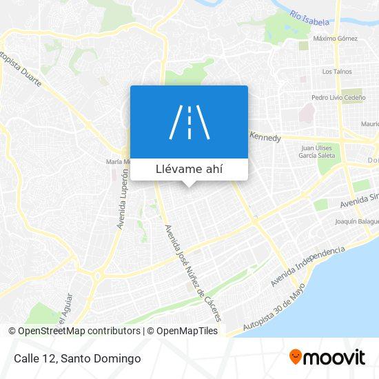 Mapa de Calle 12