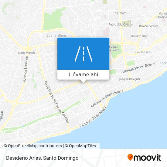 Mapa de Desiderio Arias