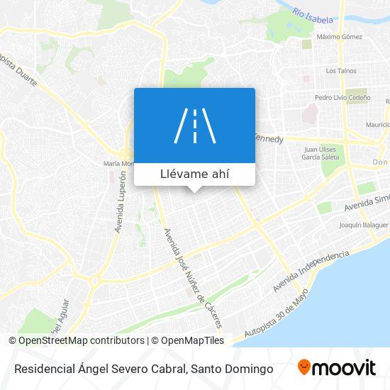Mapa de Residencial Ángel Severo Cabral