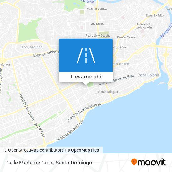 Mapa de Calle Madame Curie