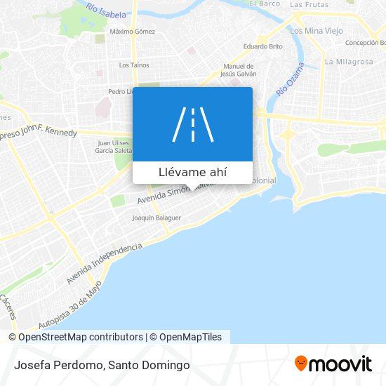 Mapa de Josefa Perdomo