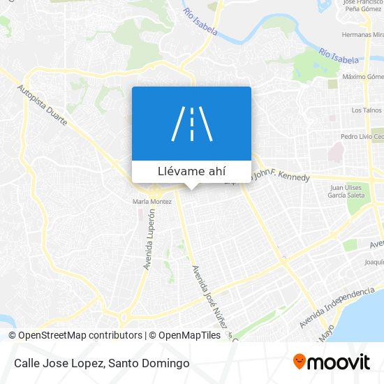 Mapa de Calle Jose Lopez