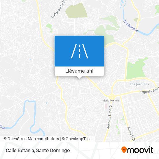 Mapa de Calle Betania