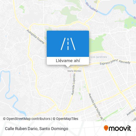 Mapa de Calle Ruben Dario