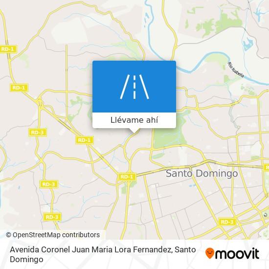Mapa de Avenida Coronel Juan Maria Lora Fernandez
