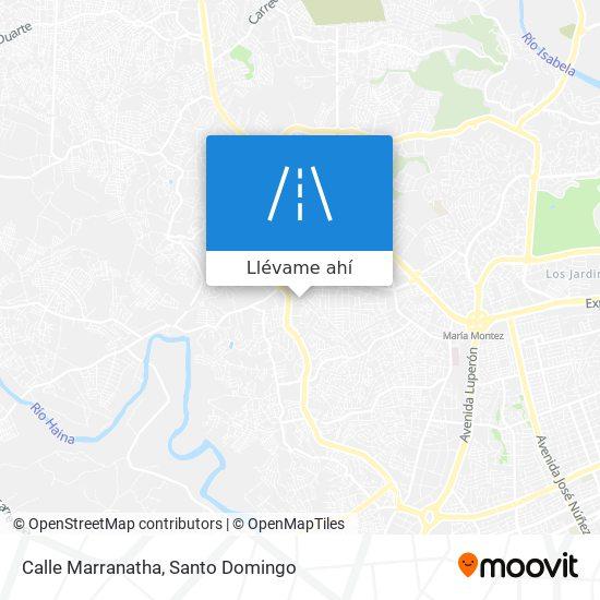 Mapa de Calle Marranatha