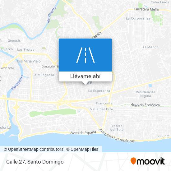 Mapa de Calle 27