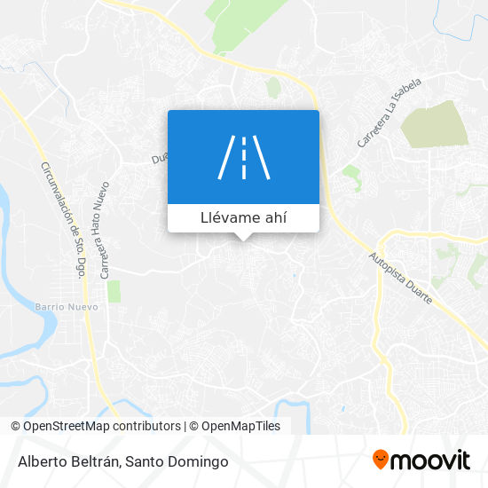 Mapa de Alberto Beltrán