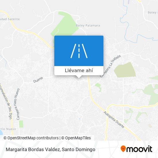 Mapa de Margarita Bordas Valdez