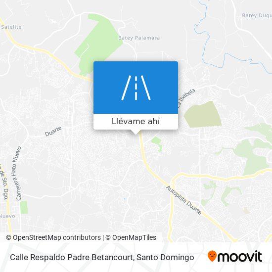 Mapa de Calle Respaldo Padre Betancourt