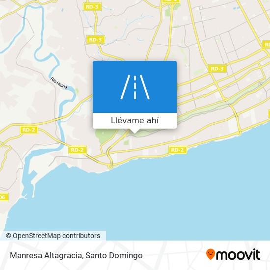 Mapa de Manresa Altagracia