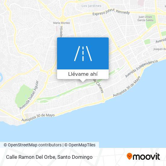 Mapa de Calle Ramon Del Orbe