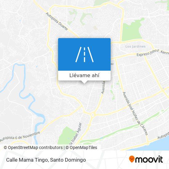 Mapa de Calle Mama Tingo