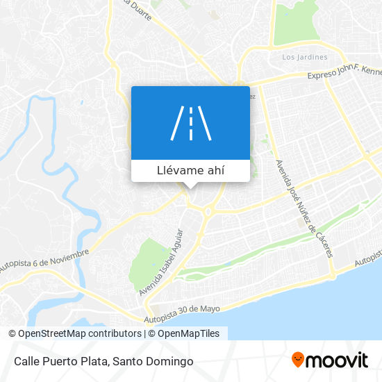Mapa de Calle Puerto Plata