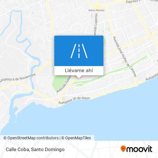 Mapa de Calle Coba