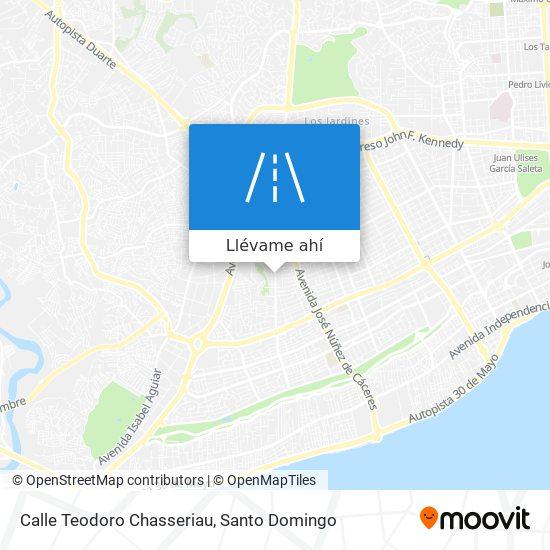 Mapa de Calle Teodoro Chasseriau