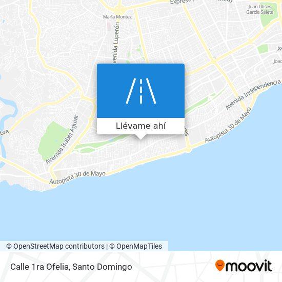 Mapa de Calle 1ra Ofelia