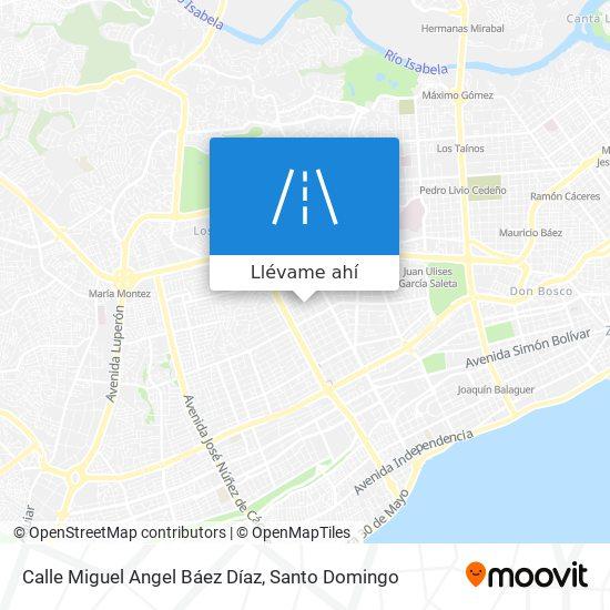 Mapa de Calle Miguel Angel Báez Díaz