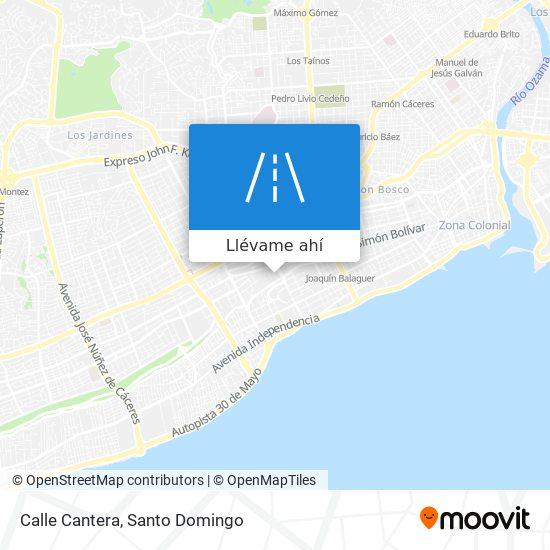 Mapa de Calle Cantera