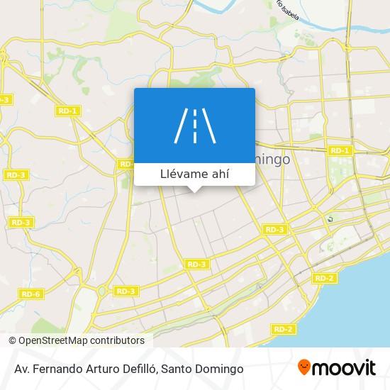 Mapa de Av. Fernando Arturo Defilló
