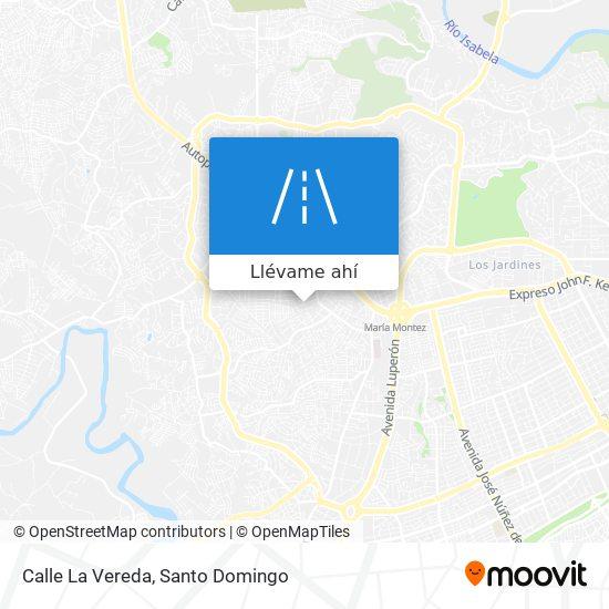 Mapa de Calle La Vereda