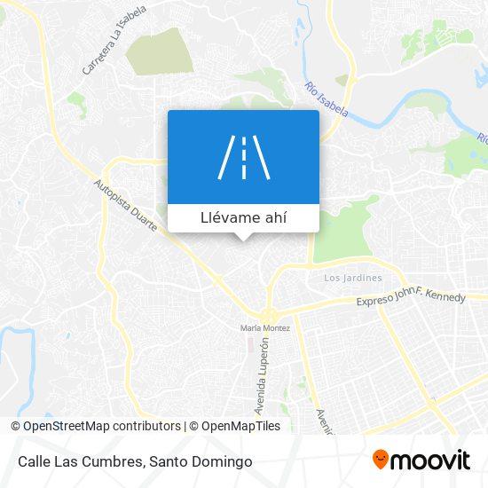 Mapa de Calle Las Cumbres