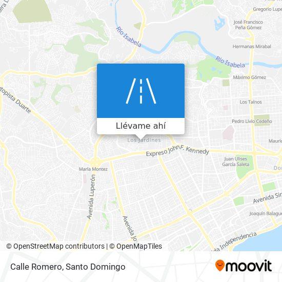 Mapa de Calle Romero