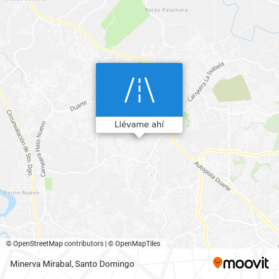 Mapa de Minerva Mirabal
