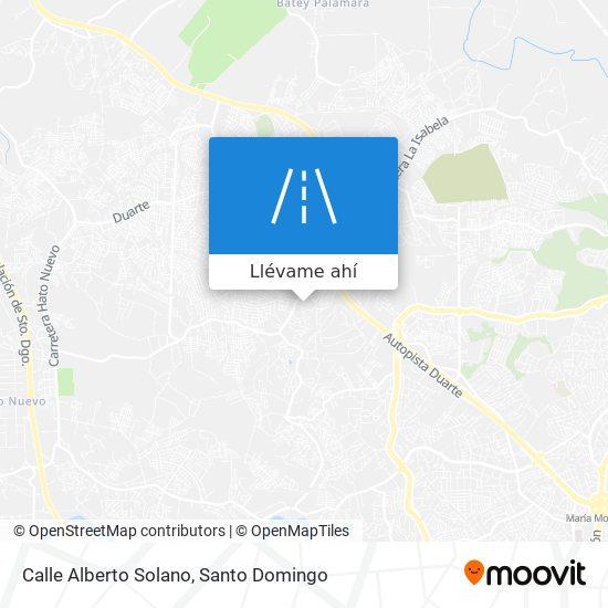 Mapa de Calle Alberto Solano