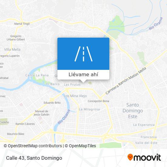 Mapa de Calle 43