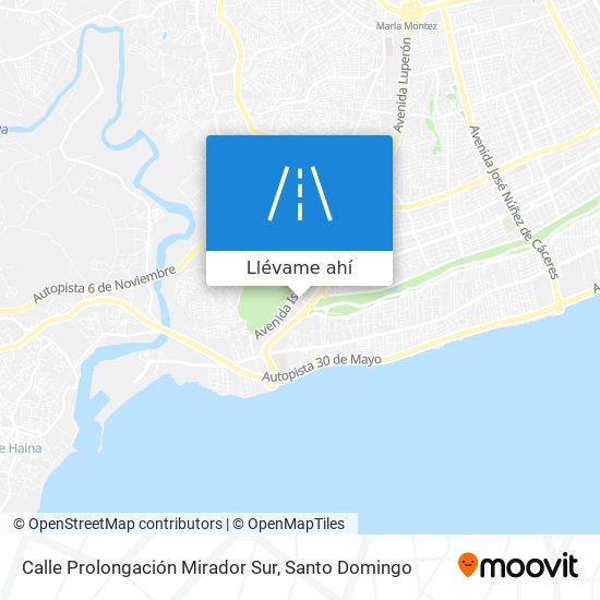 Mapa de Calle Prolongación Mirador Sur
