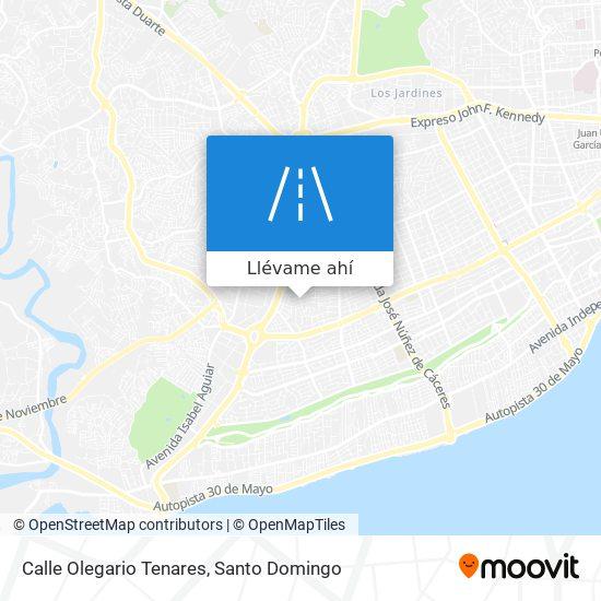 Mapa de Calle Olegario Tenares