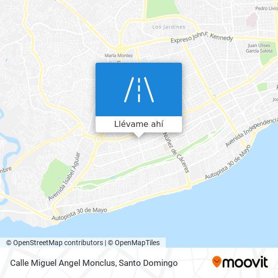 Mapa de Calle Miguel Angel Monclus