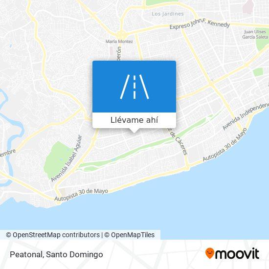 Mapa de Peatonal